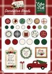 A Cozy Christmas Decorative Brads - Echo Park