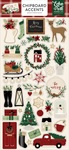 A Cozy Christmas Chipboard Accents - Echo Park