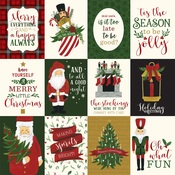 3X4 Journaling Cards Paper - Here Comes Santa Claus - Echo Park