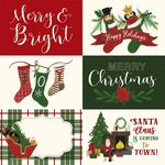 6X4 Journaling Cards Paper - Here Comes Santa Claus - Echo Park