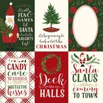 4X6 Journaling Cards Paper - Here Comes Santa Claus - Echo Park