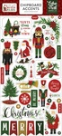 Here Comes Santa Claus Chipboard Accents - Echo Park