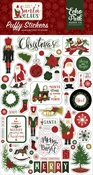 Here Comes Santa Claus Puffy Stickers - Echo Park - PRE ORDER