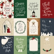3X4 Journaling Cards Paper - Away In A Manger - Echo Park