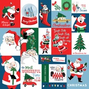 Christmas Squares Paper - Merry Christmas - Carta Bella