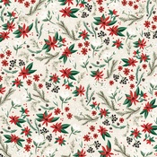 Holiday Floral Paper - Christmas Market - Carta Bella