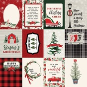 3X4 Journaling Cards Paper - Christmas Market - Carta Bella