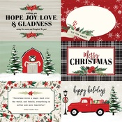 4X6 Journaling Cards Paper - Christmas Market - Carta Bella