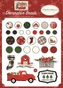 Christmas Market Decorative Brads - Carta Bella Echo Park Paper-Decorative Brads. A fun addition to any paper crafting project! This package contains 25 decorative brads and five tags on one 5x4-1/4 inch sheet.