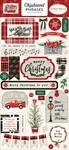 Christmas Market Chipboard Phrases - Carta Bella - PRE ORDER