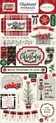 Christmas Market Chipboard Phrases - Carta Bella