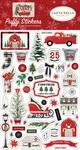 Christmas Market Puffy Stickers - Carta Bella