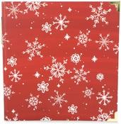 Red Snowflake 6X8 Album - Carta Bella