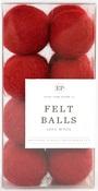 Red Wool Felt Ball Pack - Carta Bella