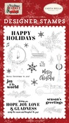 Happy Holidays Stamp Set - Carta Bella