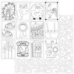 State Fair Black & White Color Me Card Paper - Photoplay