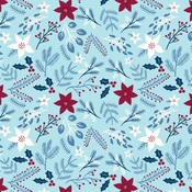 Winter Floral Paper - My Favorite Winter - Echo Park