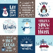 4X4 Journaling Cards Paper - My Favorite Winter - Echo Park