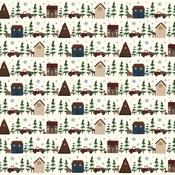 Cabin Village Paper - Warm & Cozy - Echo Park
