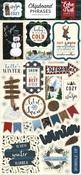 Warm & Cozy Chipboard Phrases - Echo Park