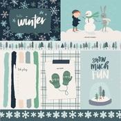 4X6 Journaling Cards Paper - Snow Much Fun - Carta Bella