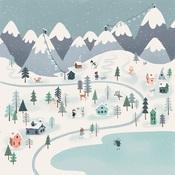 Winter Town Paper - Snow Much Fun - Carta Bella