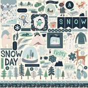 Snow Much Fun Element Sticker - Carta Bella