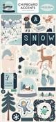 Snow Much Fun Chipboard Accents - Carta Bella
