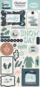 Snow Much Fun Chipboard Phrases - Carta Bella