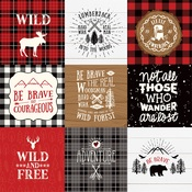 4X4 Journaling Cards Paper - Little Lumberjack - Echo Park