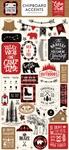 Little Lumberjack Chipboard Accents - Echo Park