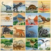 3X3 Journaling Cards Paper - Dinosaurs - Carta Bella