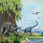 Prehistoric Paper - Dinosaurs - Carta Bella