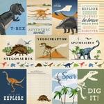 3X4 Journaling Cards Paper - Dinosaurs - Carta Bella