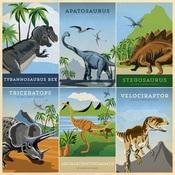 4X6 Journaling Cards Paper - Dinosaurs - Carta Bella