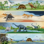 Border Strips Paper - Dinosaurs - Carta Bella