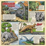 Dino Comic Strip Paper - Dinosaurs - Carta Bella