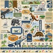 Dinosaurs Element Sticker - Carta Bella