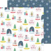 Snow Globes Paper - Home For The Holidays - Pinkfresh