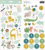 Peek-A-Boo You Boy Sticker Sheet - Pebbles