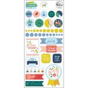 Office Hours Mixed Embellishment Pack - Pinkfresh