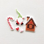 Home for Christmas Silicone Tags - Fancy Pants