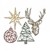 Geo Christmas Sizzix Thinlits Dies By Tim Holtz