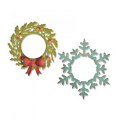 Wreath & Snowflake Sizzix Thinlits Dies By Tim Holtz