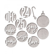 Circle Words, Christmas Sizzix Thinlits Dies By Tim Holtz - PRE ORDER