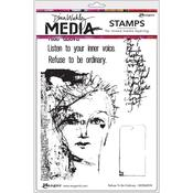 Refuse To Be Ordinary Dina Wakley Media Cling Stamp