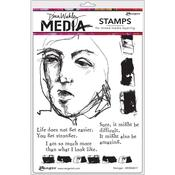Stronger Dina Wakley Media Cling Stamp