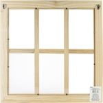 Wood Window W/6 Panes