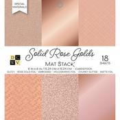 "Solid Rose Golds - DCWV Single-Sided Cardstock Stack 6""X6"""