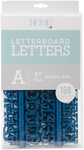 """Navy - DCWV Letterboard Letters & Characters 1"""""""